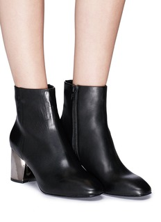 Ash 'Harlem' mirror heel leather ankle boots