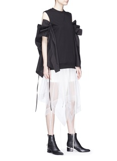 J KOO Ruffle sleeveless knit top