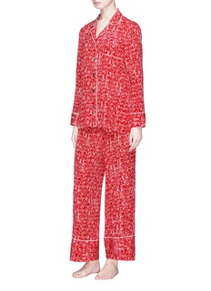 Love Me x Lane Crawford Logo print silk crepe pyjama set
