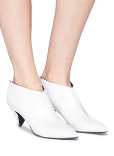 Alumnae Patent leather bootie mules