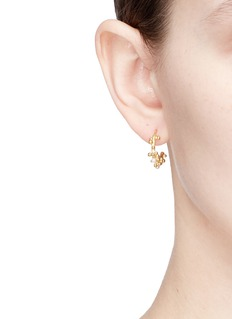Belinda Chang 'First Frost' pearl small hoop earrings