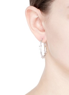 Belinda Chang 'First Frost' freshwater pearl large hoop earrings