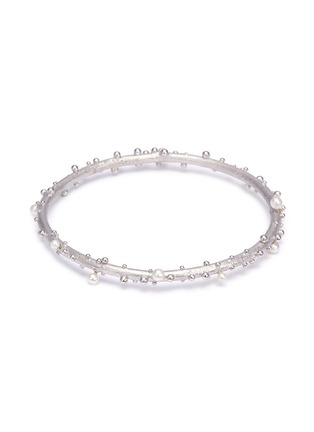 Main View - Click To Enlarge - Belinda Chang - 'First Frost' freshwater pearl bangle