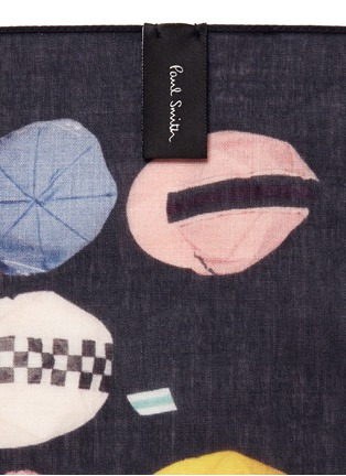 Detail View - Click To Enlarge - Paul Smith - Baseball cap print cotton pocket square