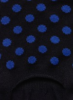 Polka dot liner socks