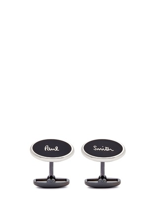 Main View - Click To Enlarge - Paul Smith - 'Logo Plate' cufflinks