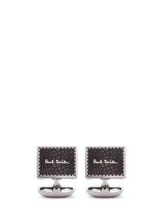 Paul Smith Enamel stitch signage cufflinks