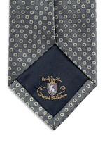 Medallion embroidery silk tie