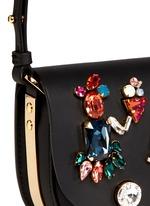 'Barnsbury' mini crystal saddle leather crossbody bag