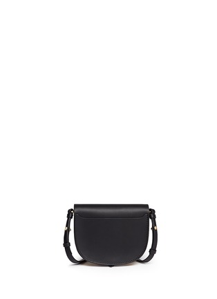 Back View - Click To Enlarge - Sophie Hulme - 'Barnsbury' mini crystal saddle leather crossbody bag