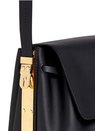 Detail View - Click To Enlarge - Sophie Hulme - 'Claremont' saddle leather crossbody bucket bag