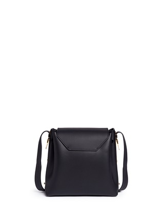 Back View - Click To Enlarge - Sophie Hulme - 'Claremont' saddle leather crossbody bucket bag