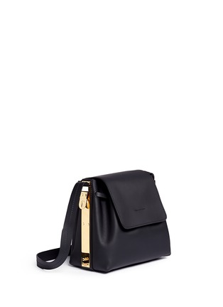 Front View - Click To Enlarge - Sophie Hulme - 'Claremont' saddle leather crossbody bucket bag