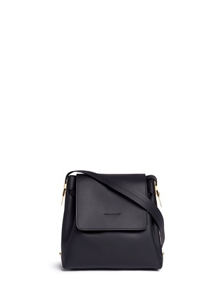 Main View - Click To Enlarge - Sophie Hulme - 'Claremont' saddle leather crossbody bucket bag