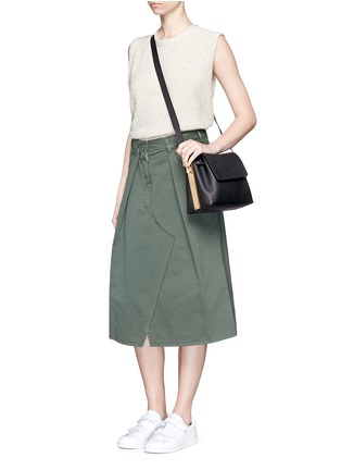 Figure View - Click To Enlarge - Sophie Hulme - 'Claremont' saddle leather crossbody bucket bag