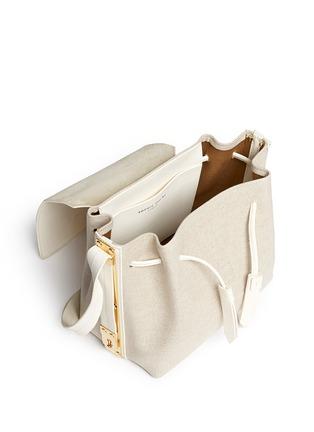 细节 - 点击放大 - SOPHIE HULME - Claremont帆布拼接真皮斜挎包