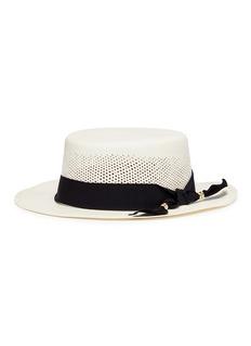 Sensi Studio Ribbon toquilla straw openwork cordovez hat