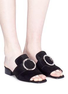 Dorateymur 'Harput' oversize ring suede mule sandals