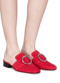 Dorateymur 'Petrol' oversized ring suede slide loafers