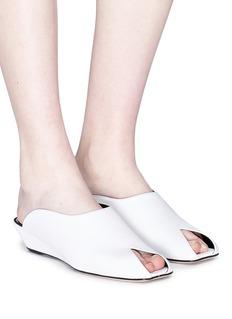 Dorateymur 'Han' leather wedge mule sandals