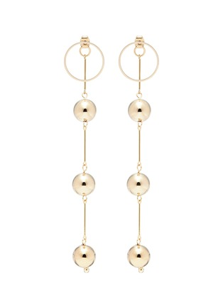Main View - Click To Enlarge - ViaTORY - 'Cherry Vall' sphere link drop earrings