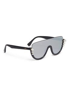 Fendi 'Ribbons and Pearls Visor' mirror aviator sunglasses
