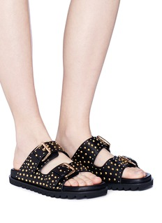 Pedder Red 'Tara' stud double buckled band sandals