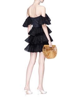 Caroline Constas 'Irene' broderie anglaise ruffle off-shoulder mini dress
