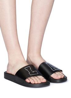 Joshua Sanders 'L.A.' appliqué slide sandals