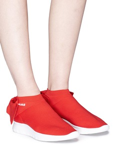 Joshua Sanders Bow knit sock sneakers