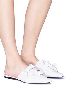 Proenza Schouler Knotted bow leather slides