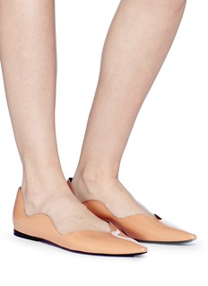 Proenza Schouler 'Wave' scalloped patent leather skimmer flats