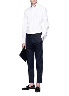 Dolce & Gabbana Leopard appliqué poplin shirt