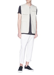 SIKI IM / DEN IM Quilted cotton cargo vest