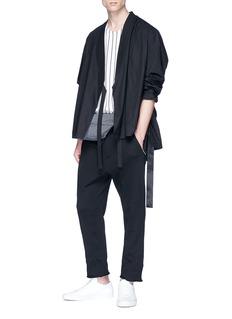 SIKI IM / DEN IM Stripe trim poplin kimono jacket