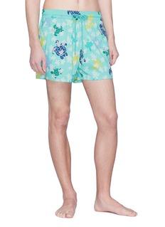 Vilebrequin 'Moorise' glow in the dark turtle print swim shorts