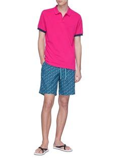Vilebrequin 'Palan' contrast cuff polo shirt