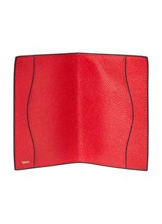 Valextra Leather passport holder –Red