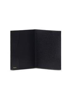 Valextra Leather passport holder – Black