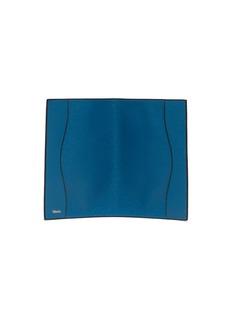 Valextra Leather passport holder –Cobalt Blue