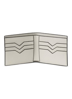 Valextra Leather bifold wallet –White