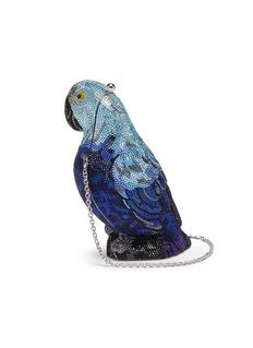 Judith Leiber 'Parrot' crystal pavé minaudière