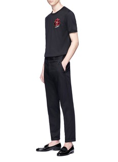 Dolce & Gabbana Logo embroidered twill pants