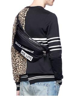 Dolce & Gabbana 'Mediterraneo' logo patch bum bag