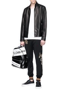 Dolce & Gabbana Leopard appliqué jogging pants