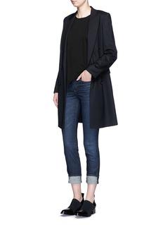 HELMUT LANG'Ankle Skinny' whiskered jeans