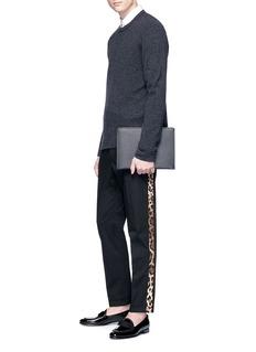Dolce & Gabbana Leopard print outseam twill pants