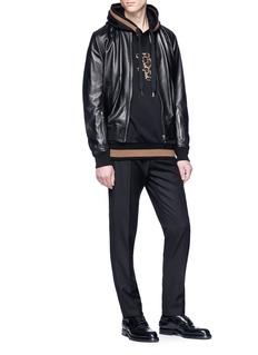 Dolce & Gabbana Sleeve zip lambskin leather jacket