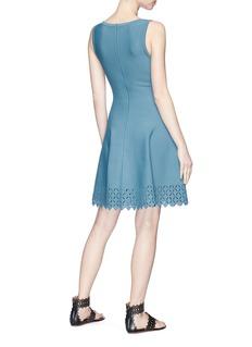 Alaïa Diamond cutout sleeveless knit dress