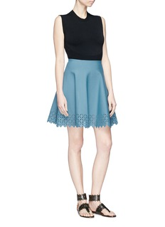 Alaïa Diamond cutout knit skirt